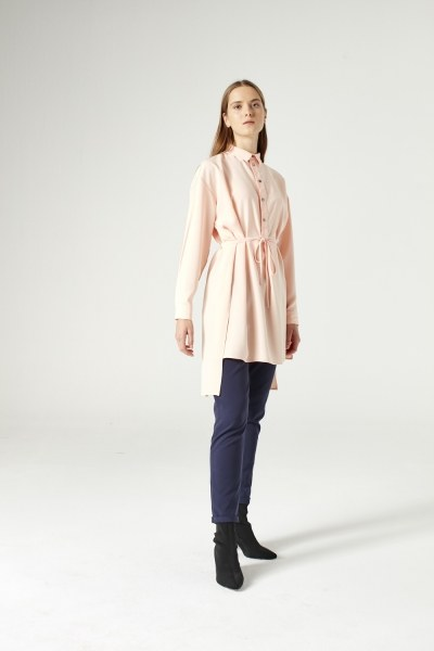 Side Slit Tunic (Salmon) - Thumbnail