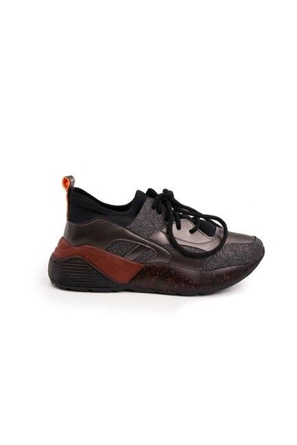 Sim Detaylı Ayakkabı (Siyah) - Thumbnail