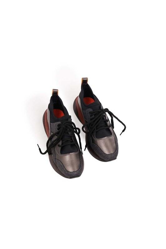 Sim Detaylı Ayakkabı (Siyah)