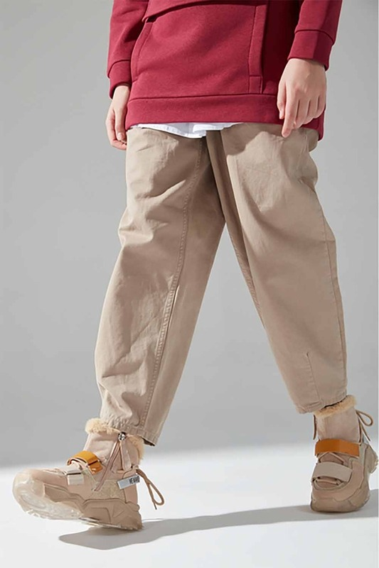 Sim Detaylı Bootie Sneaker (Bej)