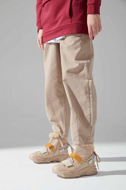 Sim Detaylı Bootie Sneaker (Bej) - Thumbnail