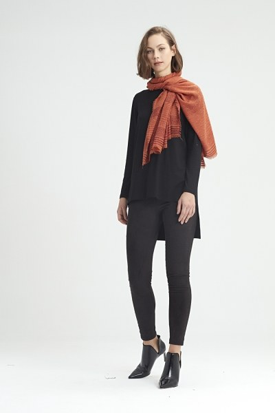 MIZALLE - Silvery Shawl (Brick Red) (1)