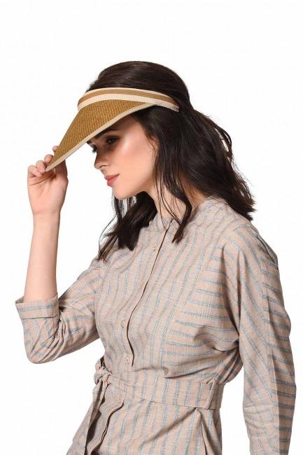 MIZALLE Siperli Plaj Şapkası (Kahverengi)