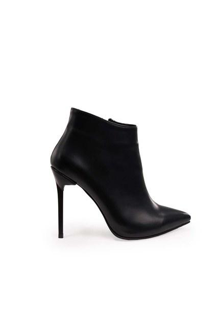 MIZALLE - حذاء بكعب مدبب (أسود) (1)