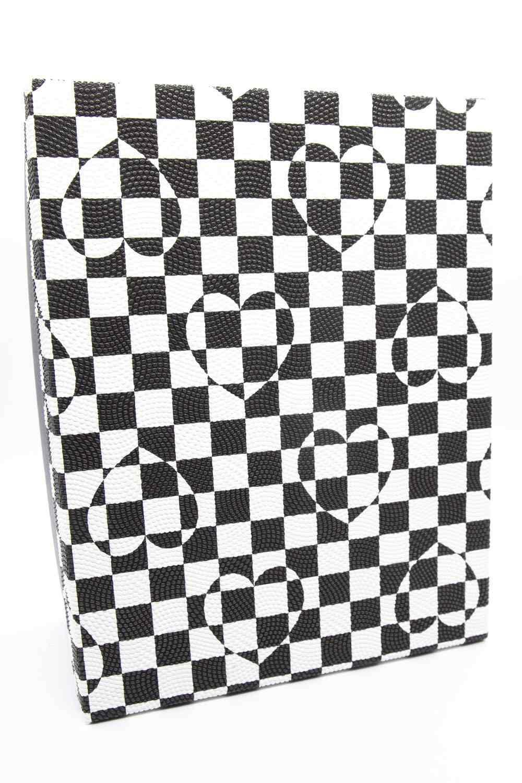 Mizalle - Siyah Beyaz Kare Kutu (13X20)