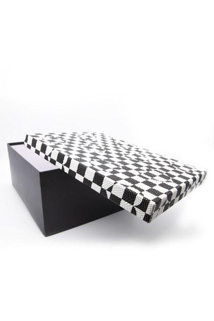 Siyah Beyaz Kare Kutu (18X26) - Thumbnail