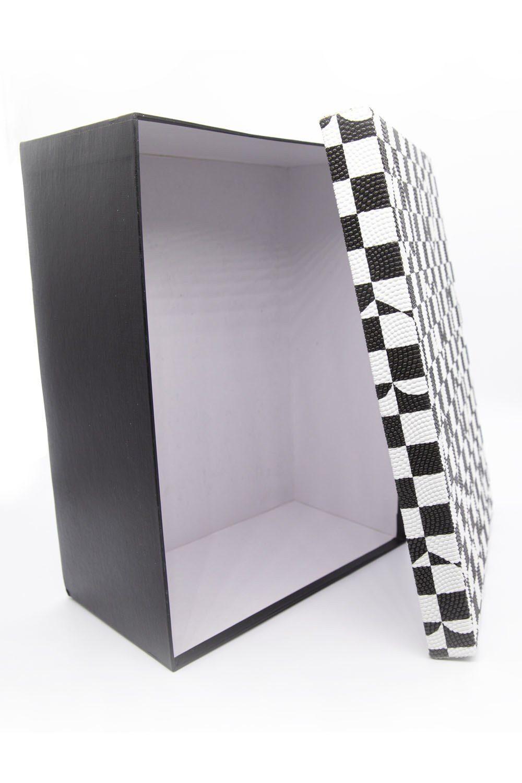 Siyah Beyaz Kare Kutu (22X30) - Thumbnail