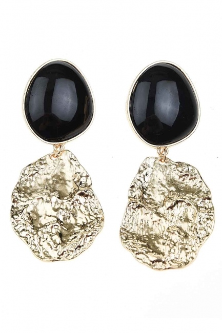 MIZALLE - Black Dangling Earrings (St) (1)