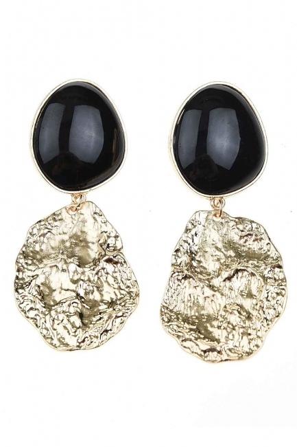 MIZALLE - Black Dangling Earrings (St) (1)