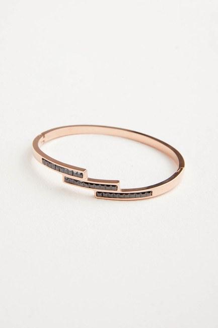 Black Stone Steel Bracelet - Thumbnail