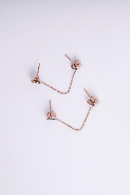 MIZALLE - Smiley Double Earrings (Yellow) (1)