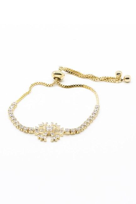 Mizalle - Snowflake Bracelet (Yellow) (1)
