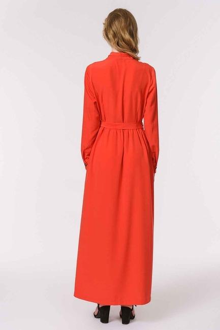 Soft Clean Patlı Elbise (Kırmızı) - Thumbnail