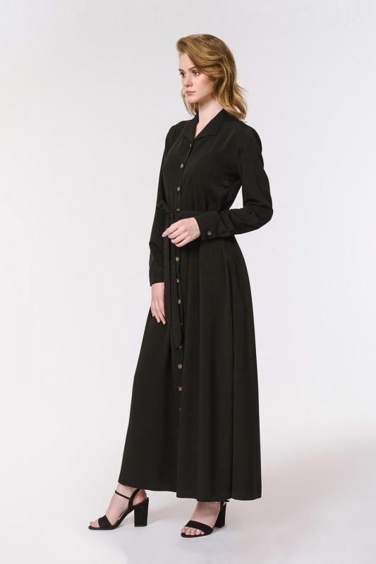 Soft Clean Patlı Elbise (Siyah)