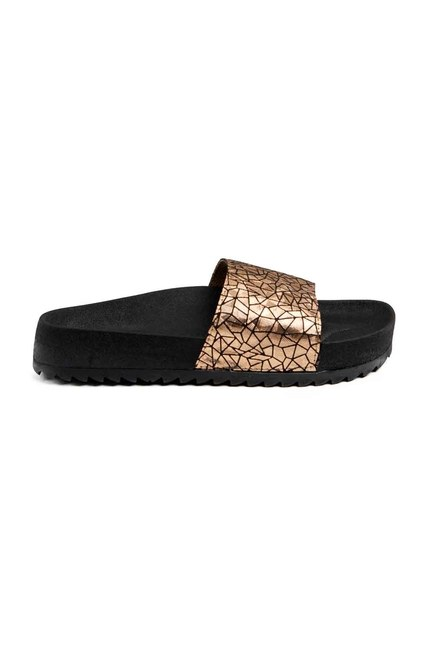 MIZALLE Soft Sole Slippers (Gold)