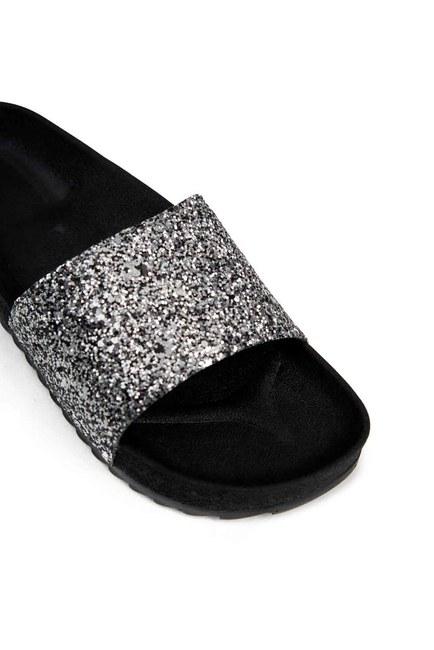 MIZALLE - Soft Sole Slippers (Platinum Sequin) (1)