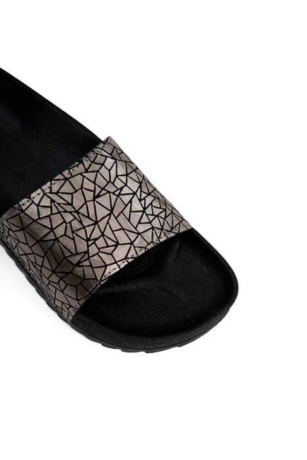 MIZALLE - Soft Sole Slippers (Silver) (1)