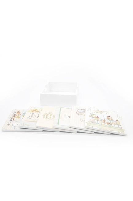 MIZALLE HOME - Square Coasters (White) (1)