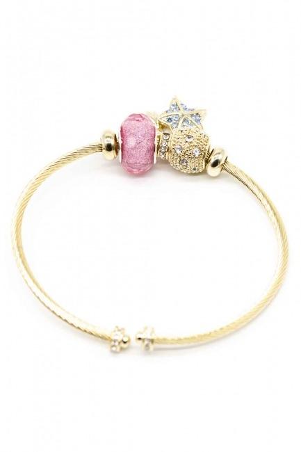 Star Themed Bracelet (Pink) - Thumbnail