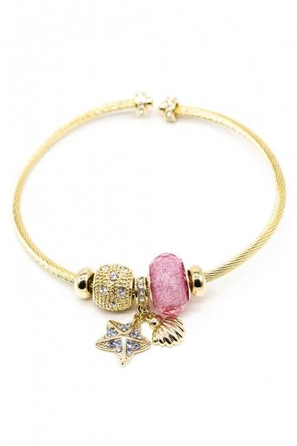 MIZALLE Star Themed Bracelet (Pink)