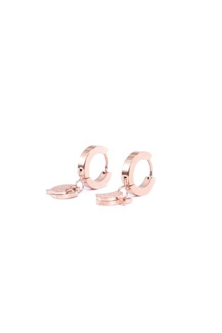 MIZALLE - Steel Fish Earrings (Yellow) (1)