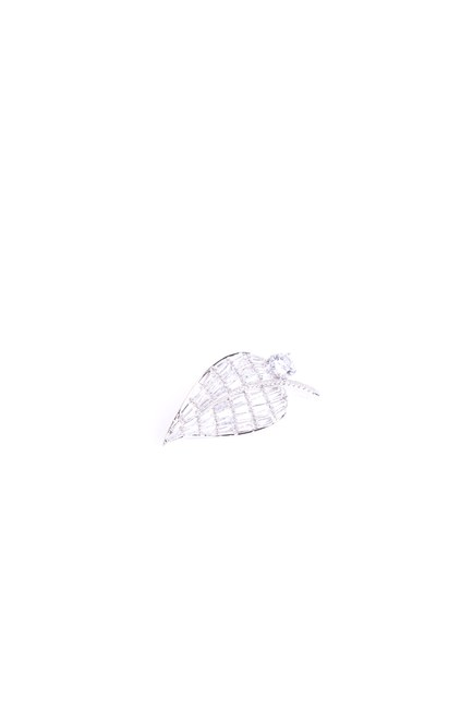 Mizalle - Stoned Brooch (Grey) (1)