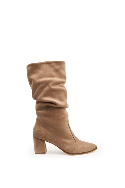Mizalle - Suede Boots (Beige) (1)