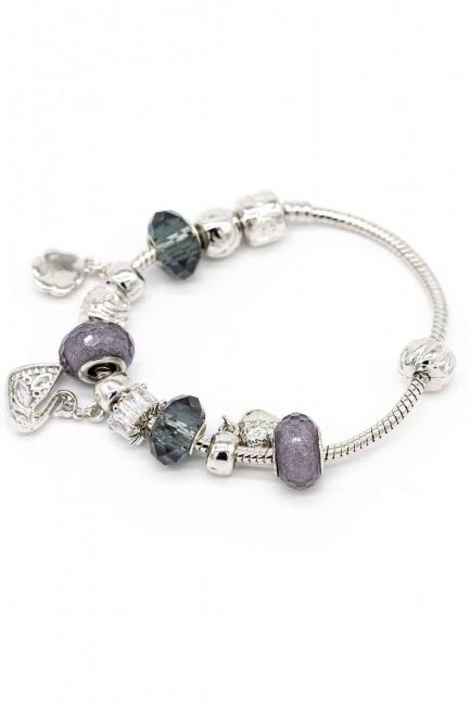 MIZALLE Swan Shaped Bracelet (Grey)