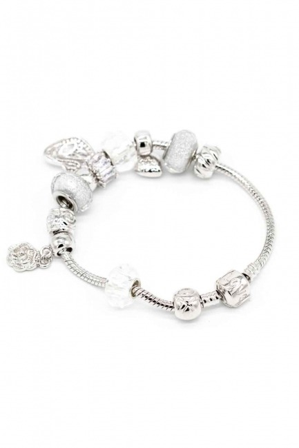 Swan Shaped Bracelet (White) - Thumbnail