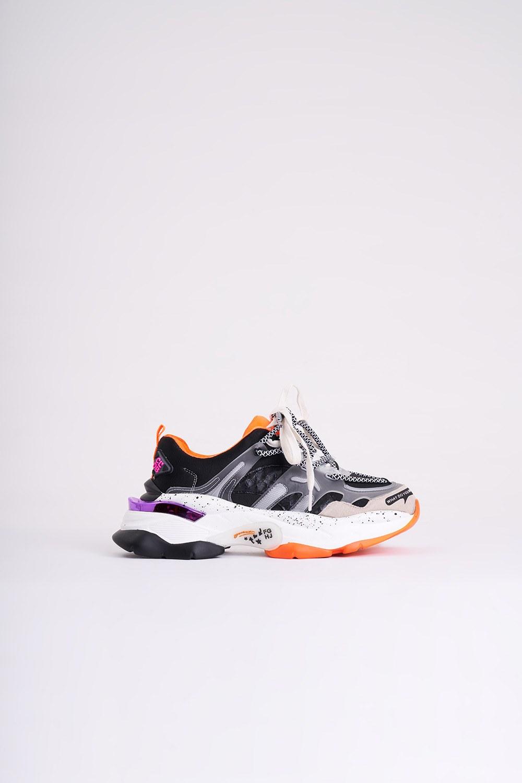 Tabanı Renkli Spor Ayakkabı (Siyah)