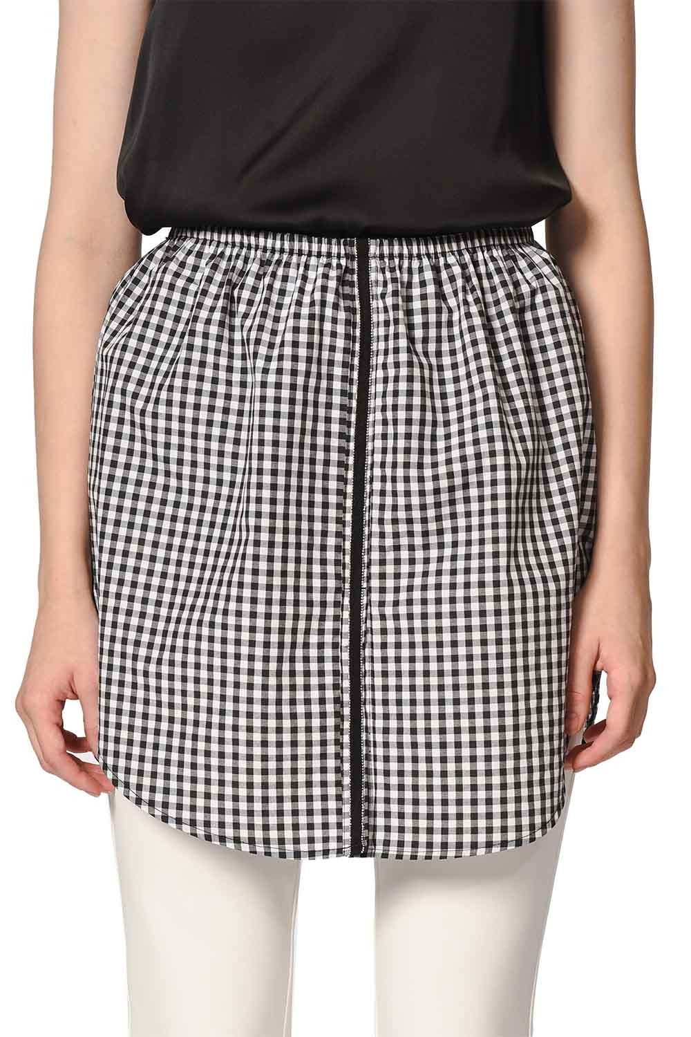 MIZALLE Complementary Skirt (Plaid) (1)