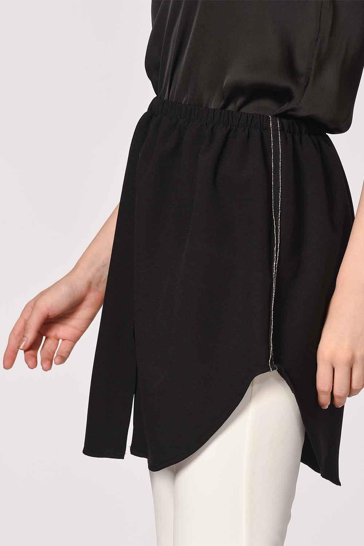 MIZALLE تنورة تكميلية (أسود) (1)