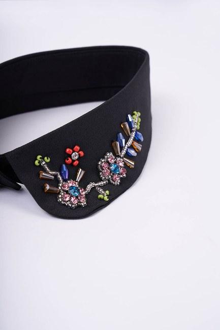 MIZALLE - Tasarım Aksesuar Yaka (Çiçek) (1)