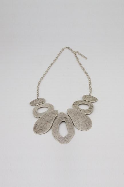 Mizalle - Tasarım Antik Gümüş Kaplama Kolye