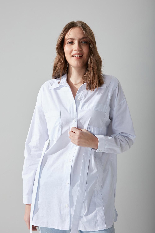 Poplin Beyaz Gömlek