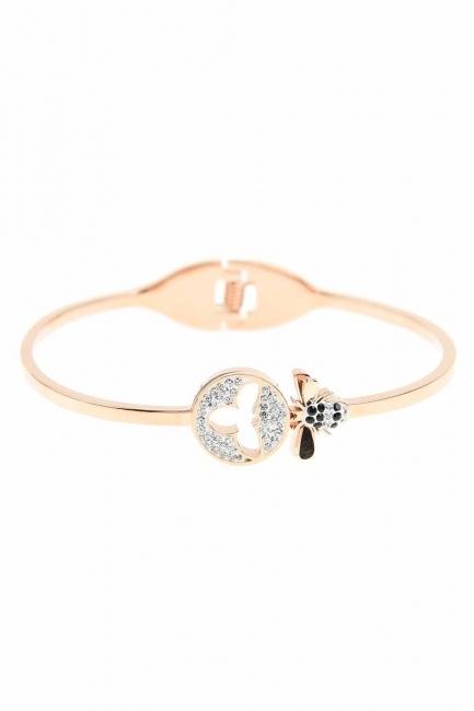 Bee Detailed Steel Bracelet (St) - Thumbnail