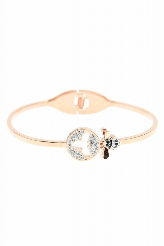 Bee Detailed Steel Bracelet (St)