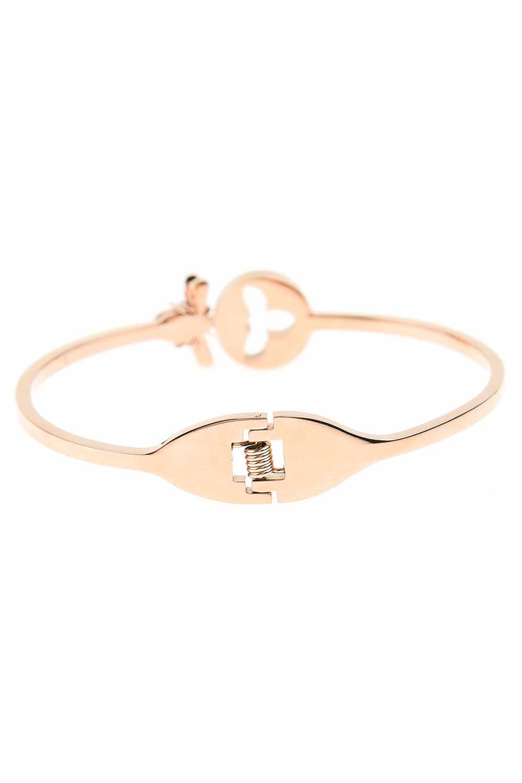 MIZALLE Bee Detailed Steel Bracelet (St) (1)