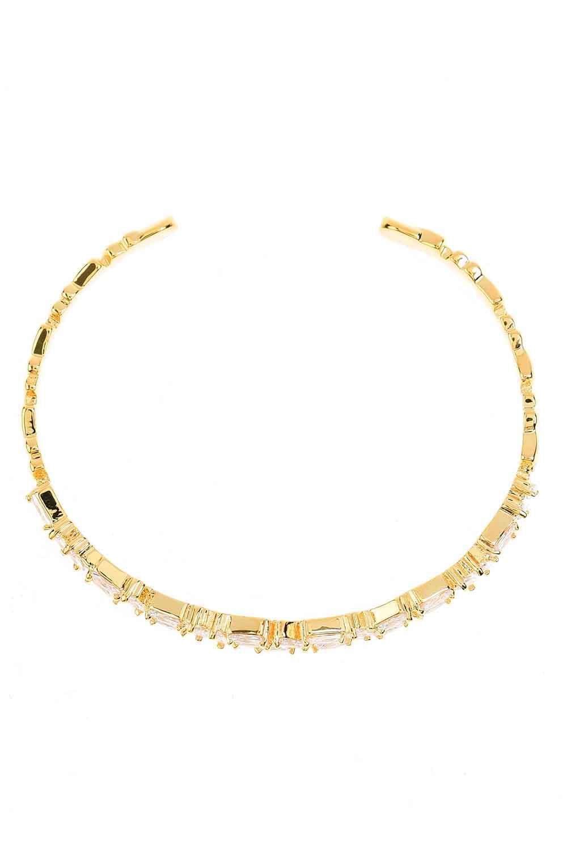 MIZALLE Taşlı Bileklik (Gold) (1)