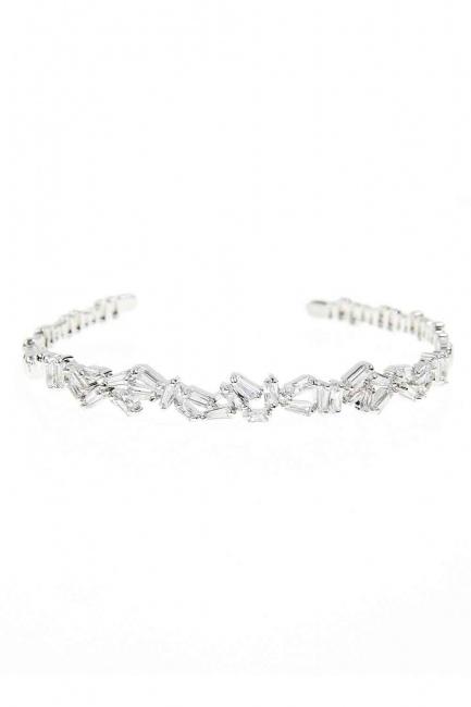 MIZALLE Stone Bracelet (Silver)