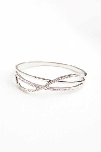 Taşlı Çelik Bileklik (St) - Thumbnail