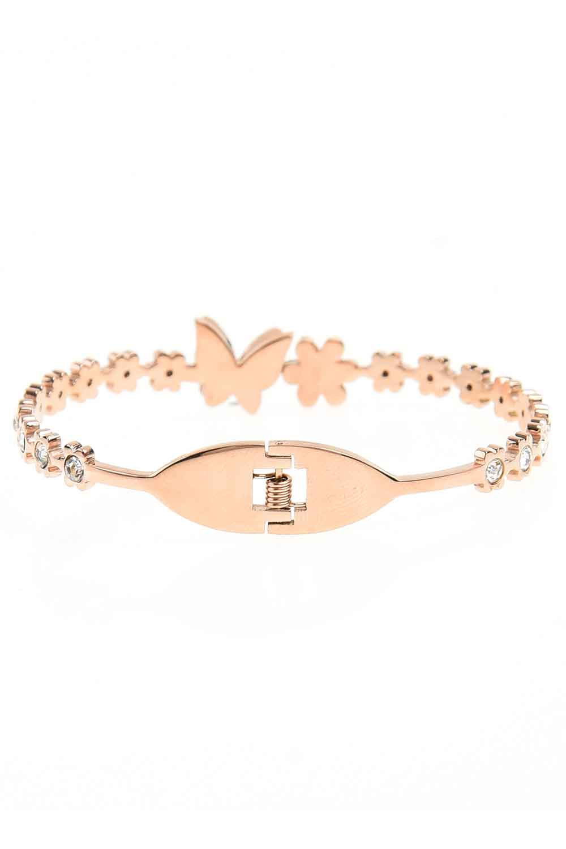 MIZALLE Stone Detailed Butterfly Bracelet (St) (1)