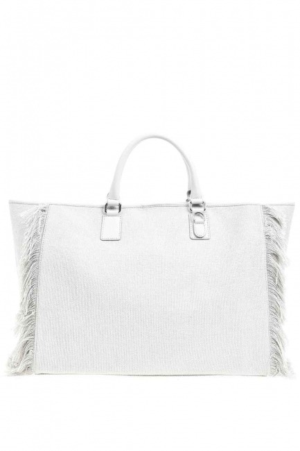 Mizalle - Tassel Detail Large Bag (Grey) (1)