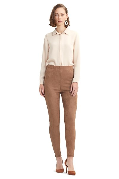 MIZALLE Tight Trousers (Brown)