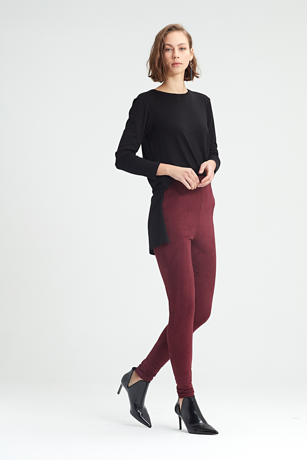 MIZALLE Tight Trousers (Purple) (1)