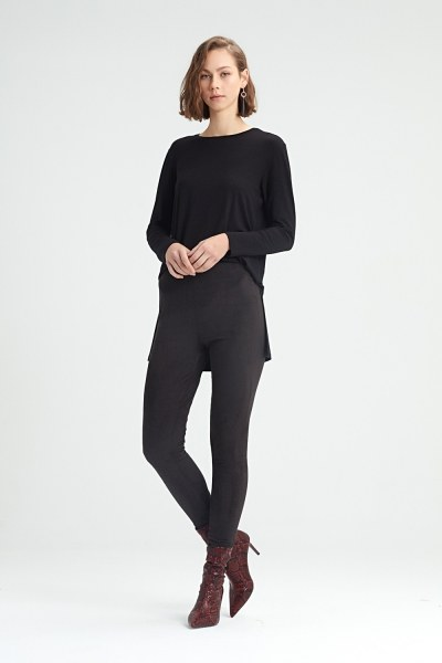 MIZALLE - Tight Trousers (Black) (1)