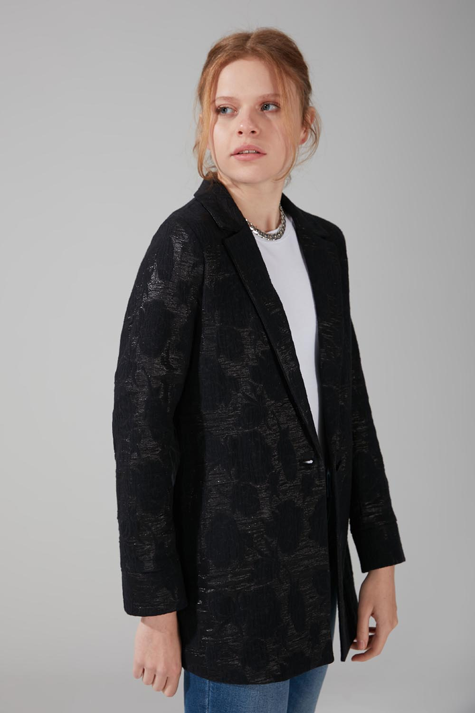 Astarsız Tek Düğmeli Ceket (Siyah)