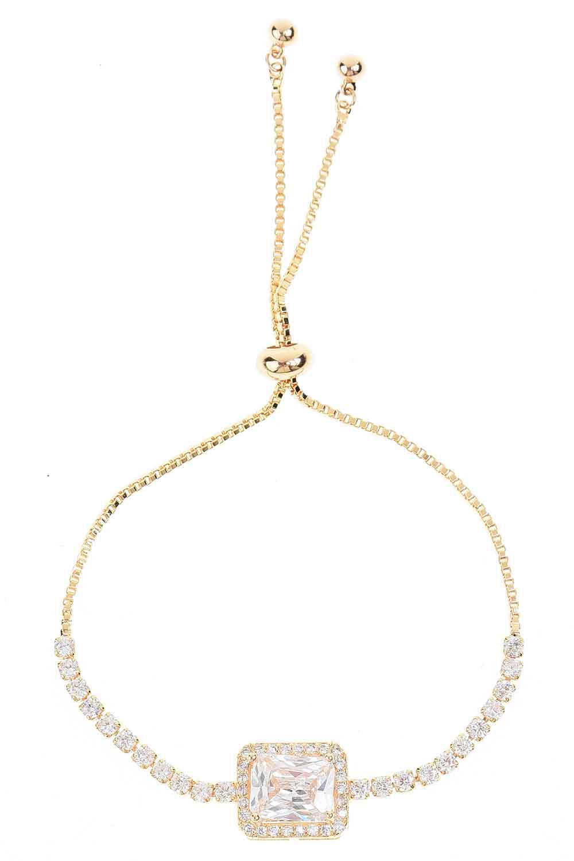 MIZALLE Stone Bracelet (Gold) (1)