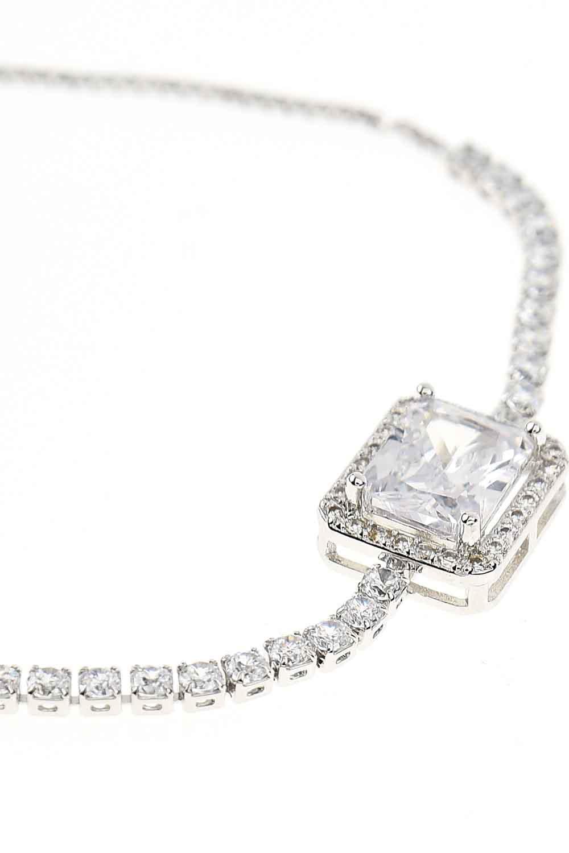 MIZALLE Stone Bracelet (Silver) (1)