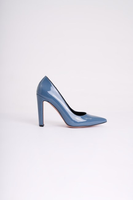 Mizalle - حذاء بكعب عالي سميك ( بترولي ) (1)